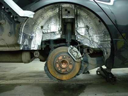 шумоизоляция колесных арок авто